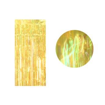 Cortina de papel transparente tornasol, amarillo, 2 X 1 mt aprox.