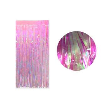 Cortina de papel transparente tornasol, fiusha, 2 X 1 mt aprox.