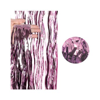 Cortina de papel metálico ondulado, cobre, 2 X 1 mt aprox.