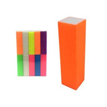 Lima para uñas 4 en 1, colores fósfo surttidos, 9 X 2.5 cm.