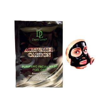 Mascarilla facial negra de carbón activo, DARRY LOVE, 20 grs.