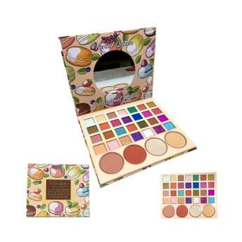 Sombra para ojos, paleta con 28 colores y 4 maquillajes, VARIED QUEEN, 16.5 X 9 cm.