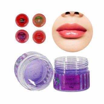 Lip balm frutal para labios, SANIYE, 4 aromas surtidos, 15 grs.