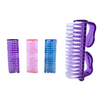 Cepillo para manicure mediano, colores surtidos, 7.5 x 3.5 x 2.5 cm.