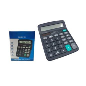 Calculadora de escritorio, usa 1 pila AA no incluida, negra, 15 X 12 cm.