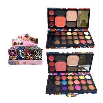 Sombra cartera de maquillaje flores, colores y combinaciones surtidas, 13.5 x 6.5 cm
