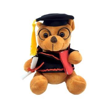 Muñeco oso de peluche graduado, 16 x 13 cm aprox