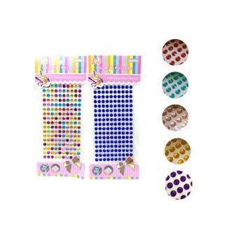Sticker decorativo de brillantes, colores surt sujetos  a disp,15 X  8  cm.