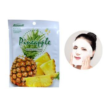 Mascarilla facial textil de piña, HANMILI, mejora la sequedad y suaviza la piel, 30 ml.