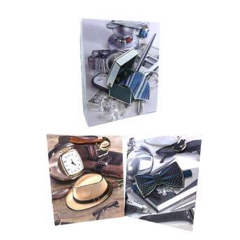 Bolsa para regalo de caballero 3D, modelos surtidos, 32 x 26 x 10 cm
