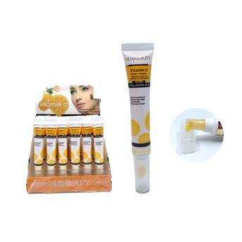 Crema blanqueadora para ojos con ácido hialurónico, HUXIA BEAUTY, 15 ml.