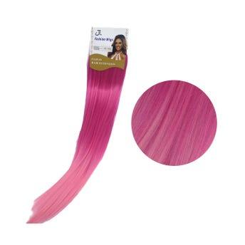 Extensión para cabello, lacio, fiusha con rosa claro, 23 x 56 cm.