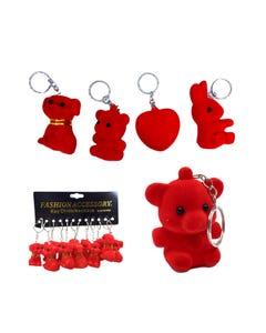 Llavero muñecos con pivote chillón, inner por mod sujeto a disp, rojo, 5 cm aprox.