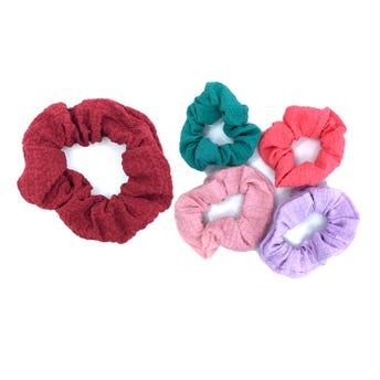 Dona para cabello textil texturizada, colores surtidos sujetos a disp, 8 cm.
