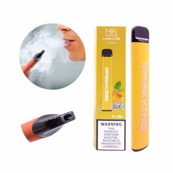 Cigarro electrónico vaporizador MK MASKKING, sabor mango, 10.5 X 2 cm.