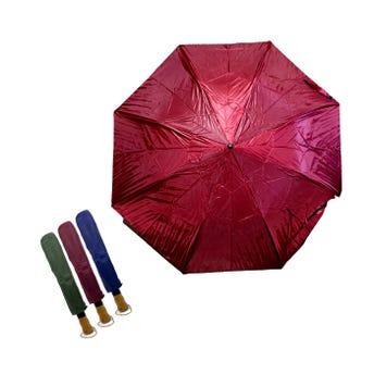 Sombrilla paraguas con barilla reforzada y doble forro, colores surtidos, 75 cm x 1.20 mts