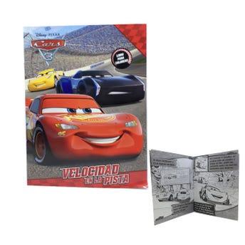 Libro para colorear orig PIXAR CARS, VELOCIDAD EN LA PISTA, 16 pag, 20 X 26.5 cm