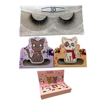 Pestaña postiza de tira 3D, CAT, modelos surtidos.