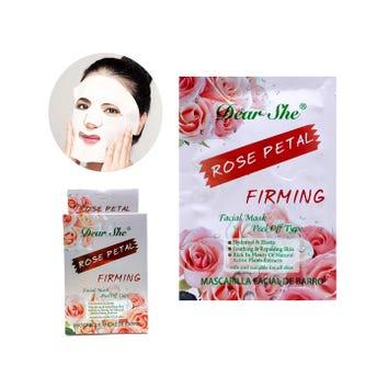 Mascarilla facial de rosas DEAR SHE, hidrata y  aclara la piel, 20 grs.