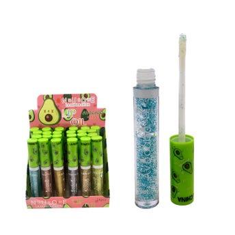 Lip gloss con glitter, AGUACATE LA BONITA CHICA, 10 ml aprox.