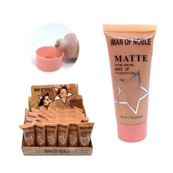 Maquillaje líquido matte, IMAN OF NOBLE, 3 tonos surtidos, 40 ml.