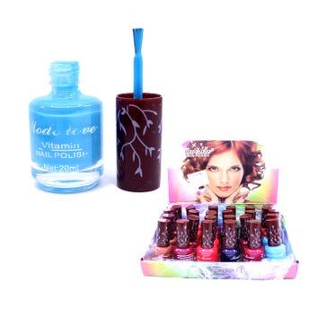 Esmalte para uñas MODE LOVE, colores surt, 20 ml.