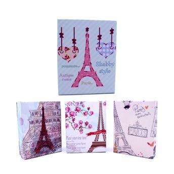 Caja para regalo París, modelos surtidos, 9 x 7 X 2.5 cm.