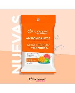 Toallitas desmaquillantes BY APPLE, agua micelar + vitamina C.