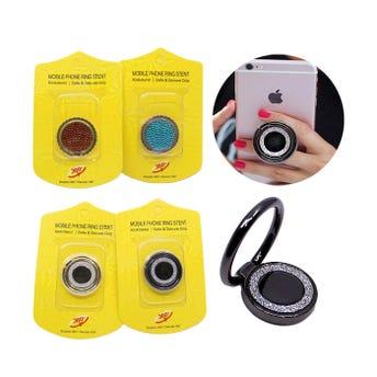 Anillo base para celular metálico, inner por mod sujeto a disp, colores Surtidos, 3 cm aprox.