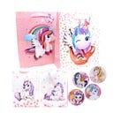 Bolsa para regalo 3D con glitter unicornios, inner por combinación suj a disp, 23.5 x 19.5 x 8 cm