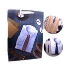 Bolsa para regalo de caballero con glitter 3D, modelos surtidos, 41 x 30 x 11 cm.