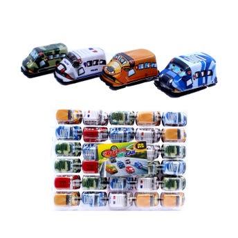 Carro de fricción, colores y modelos surtidos, 5.5 x 3.5 cm.