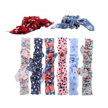 Dona chonguera flexible textil con moño, inner por modd sujeto a disp, 22 cm.