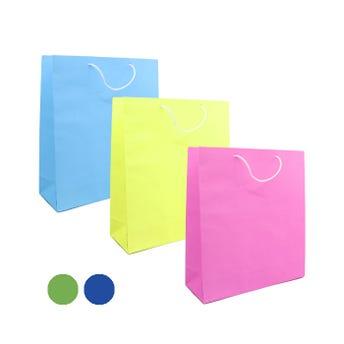 Bolsa para regalo lisa, colores surtidos, chica, 16.5 x 15.5 x 6.5 cm.