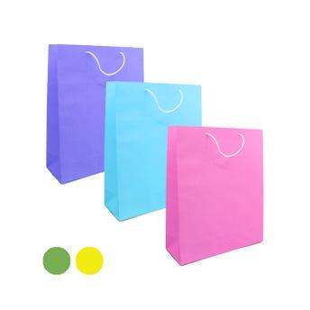 Bolsa para regalo lisa, colores surtidos, mediana, 23.5 x 14.5 x 7 cm