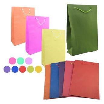 Bolsa para regalo lisa, colores surtidos, jumbo, 37 x 22.5 x 10 cm.