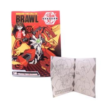Libro para colorear orig BAKUGAN, ANSWER THE CALL TO BRAWL, 16 págs, 20 x 26.5 cm.