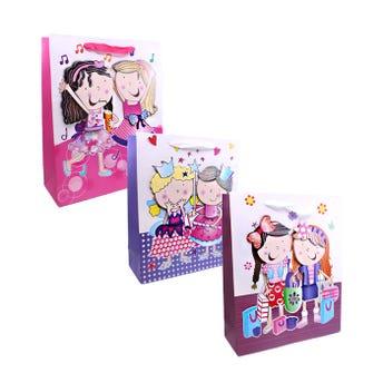 Bolsa para regalo 3D, niñas, modelos surtidos, 32 X 26 X  10 cm.