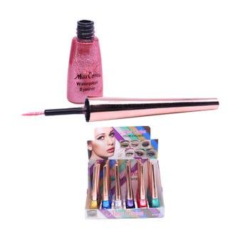 Delineador líquido de glitter con punta pincel, MISS CORINA, colores surtidos, 10.5 cm.
