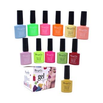 Esmalte para uñas gelish, para sellar con luz UV LED, BLING GINI, combinación B, 10 ml.