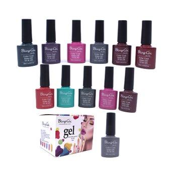 Esmalte para uñas gelish, para sellar con luz UV LED, BLING GINI, combinación H, 10 ml.
