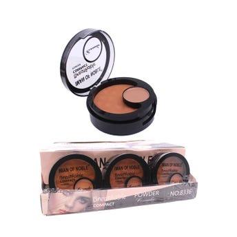 Polvo compacto con corrector, espejo y esponja, IMAN OF NOBLE, 3 tonos surtidos, 14 grs.