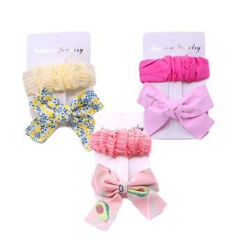 Cuca para cabello en set con moño decorado, inner por modelo sujeto a disp, 6.5 cm aprox.