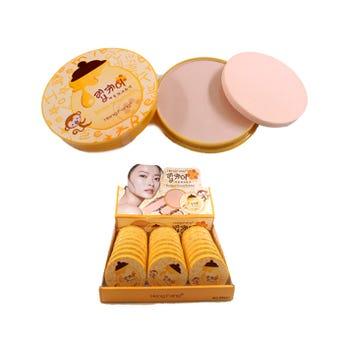 Polvo compacto con esponja aplicadora, HENG FANG, 3 tonos surtidos, 16 grs.