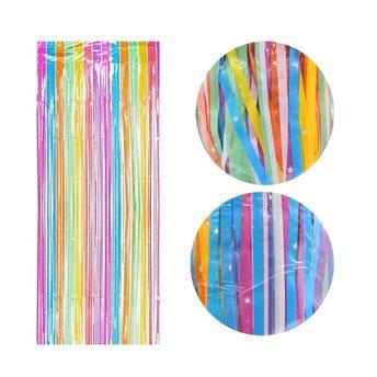 Cortina de papel mate con estrellas, colores surtidos, 2 X 1 mt aprox.