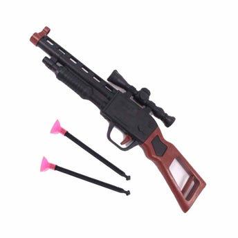 Pistola rifle con 2 dardos, 23.5 X 6 cm.