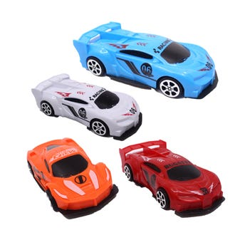 Carro de fricción de carrera, colores surtidos, 13 x 6 cm.