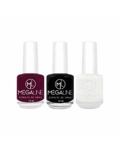 Esmalte para uñas HALLOWEEN MEGALINE, colores surtidos # 02, 16 ml.