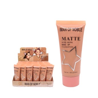 Maquillaje líquido matte, IMAN OF NOBLE, tonos surtidos, 40 ml.