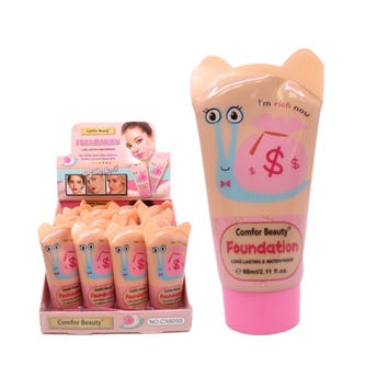 Maquillaje líquido de larga duración, COMFOR BEAUTY, tonos surtidos, 60 ml.